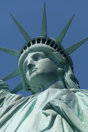 The Statue of Liberty Enlightening the World was a gift of friendship from the  of France to the  of the United States and is a universal symbol of freedom and democracy. Stock Photo - 3520688