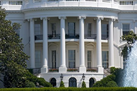 The south face of the White House in Washington on a summer day. Stock Photo - 4154109