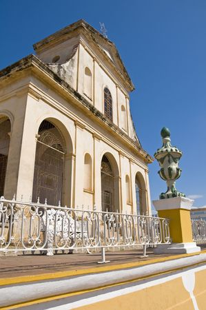 central square: Santisima Trinidad Church in the central square of Trinidad, Cuba.