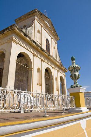 spaniards: Santisima Trinidad Church in the central square of Trinidad, Cuba.