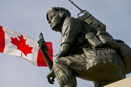 A detail of the Canadian National Peacekeeping Monument in Ottawa, Ontario. It commemorates the Canadian contribution to United Nations missions since 1948. Stock Photo - 4768492