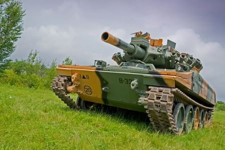 invincible: An American Vietnam era M551 Sheridan light tank.