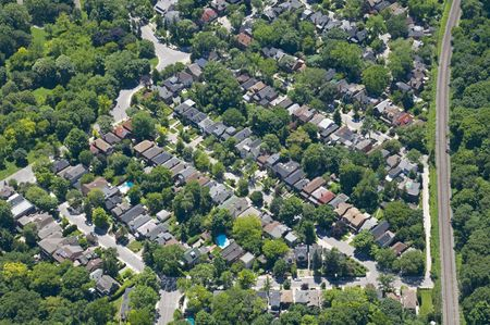 Zoning patterns found in contemporary North American towns and cities. photo