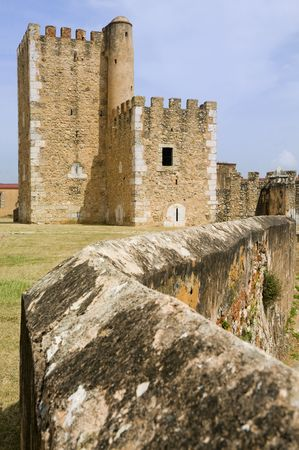 of homage: The Tower of Homage at the Ozama Fortress in Santo Domingo, Dominican Republic.