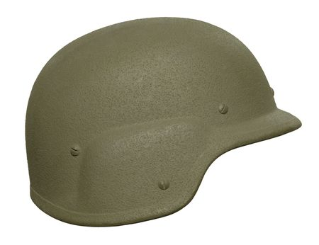 A US PASGT (Personnel Armor System for Ground Troops)  helmet. photo