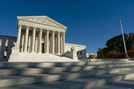 The front of the US Supreme Court in Washington, DC. photo
