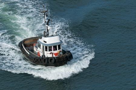 A tough little tugboat. Stock Photo