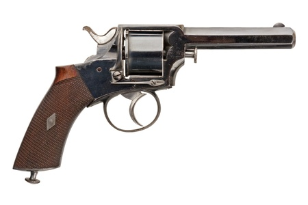 sidearm: A mid-nineteenth century British Officers Revolver. Stock Photo