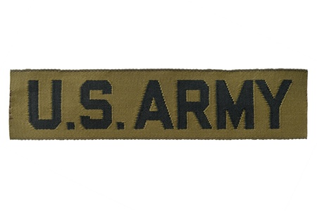 A U.S. Army uniform tag.