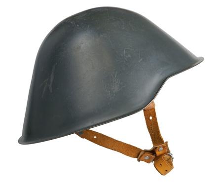 An East German war helmet