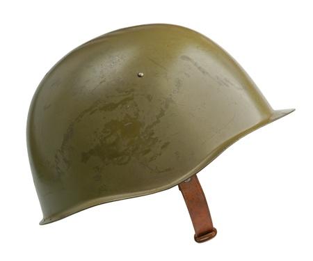 A Soviet military SSh-39 helmet. Stock Photo