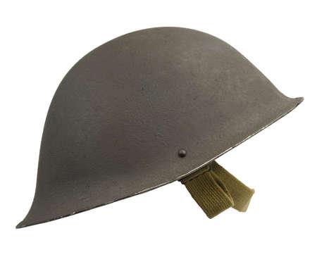 mk: Un militar brit�nico Mk IV casco, por primera vez en 1945.