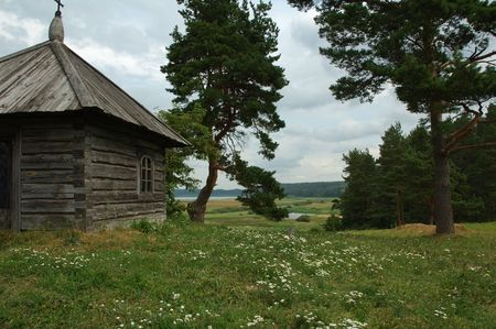 Nice landscape from the hills with trees and old building Stock Photo - 663957