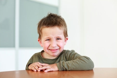 Sad boy crying - potrait photo