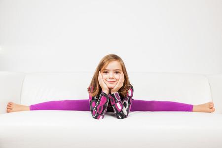 splits: Cute little girl making splits