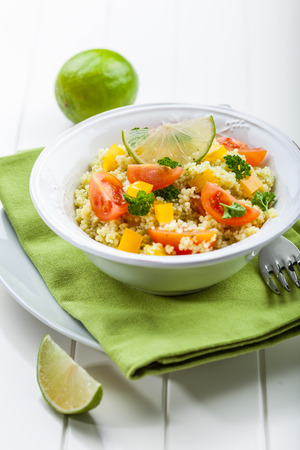 bulgur: Cous Cous with vegetables and herbs