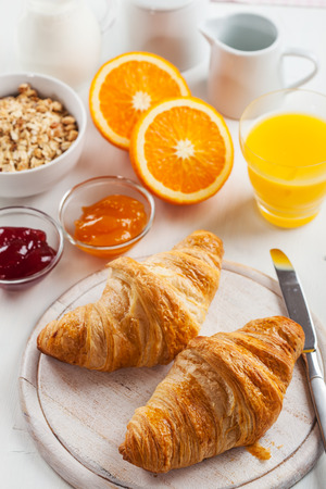 pan frances: Breakfast with delicious French croissants
