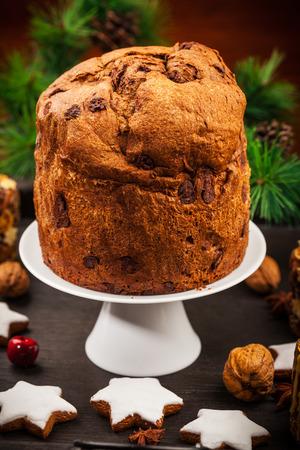 afters: Chocolate panettone cake for Christmas - traditional Italian Christmas cake