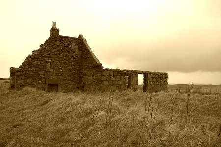 croft: Ruined Croft on the Moray Coast