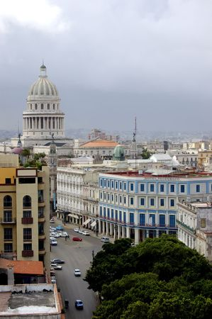 capitolio: top view from the capitolio, havana, Cuba