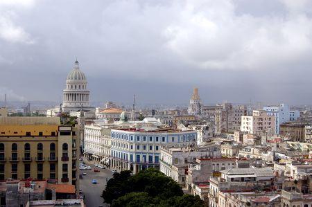 top view of the city havana, cuba photo