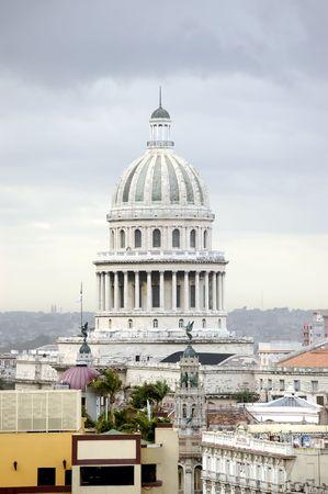 top view of Capitolio in city of havana, Cuba Stock Photo