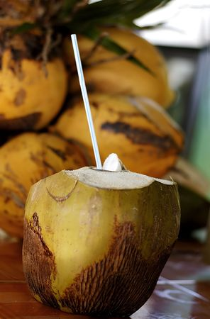 coconut drink typical refresh at cuba photo