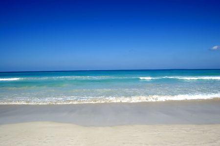 cuban culture: desert beach at cuba with white sand and beautifull ocean