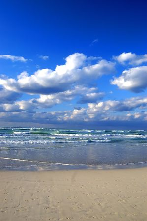 cloudy beach at Varadero, Cuba photo