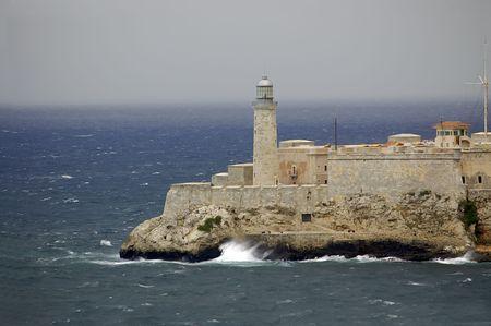 CUBA, HAVANA, EL MORRO FORTRESS LIGHTHOUSE