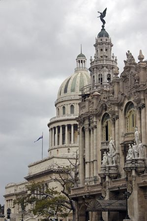 capitol building: Grand Theater of Havana and Capitol Building at Cuba