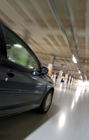 Moving car at high speed, motion sensation Stock Photo - 859412