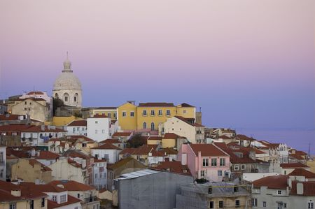 old part of downtown city of lisbon , Portugal