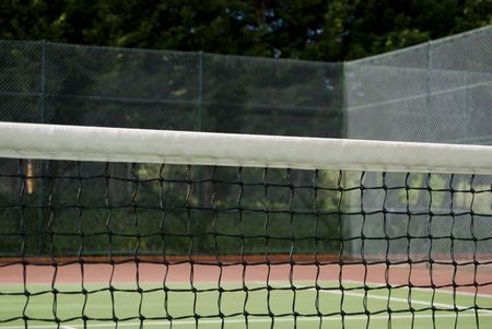 close view of the net on focus, the background is out of focus Stock Photo