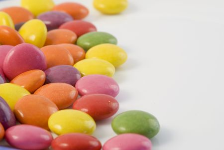 Close-up background of multi colored smarties candy Stock Photo - 1016254