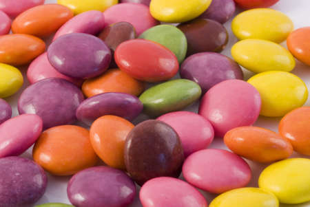 Close-up background of multi colored smarties candy Stock Photo - 1016255