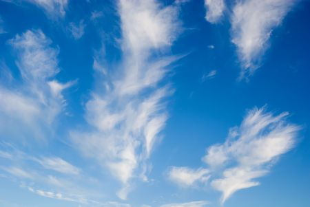 climatology: A wonderful blue sky, with some white clouds