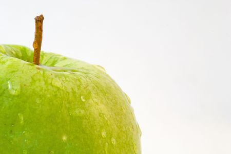 macro of a wet fresh apple Stock Photo - 1364714