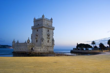 Torre de Belém is one of the most important monument of the city of lisbon, situated near the tagus river  Editorial