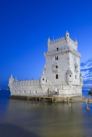tagus: Torre de Bel�m is one of the most important monument of the city of lisbon, situated near the tagus river
