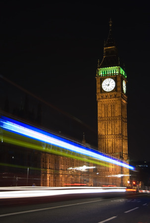 long exposure with traces of light, traffic at london