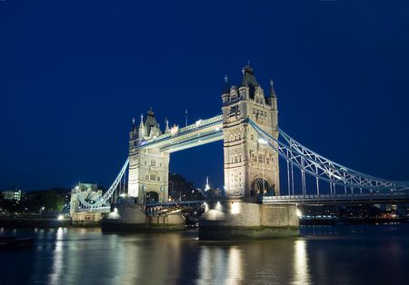 wide view of the tower bridge, London Stock Photo