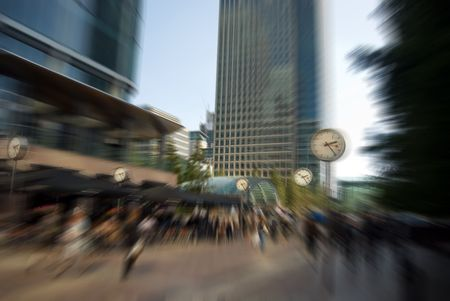 conceptual image of time is money, rush hour , stress