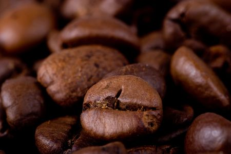 close up of coffee beans Stock Photo