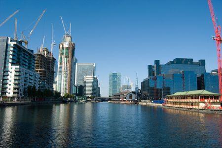 canary wharf construction site development