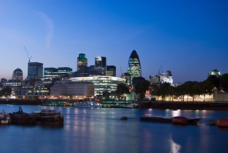 wide angle: wide angle view of the city of london