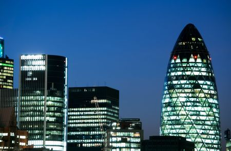 close up of the city of london