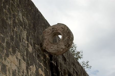 Closeup of Ancient Mayan ruins Stock Photo