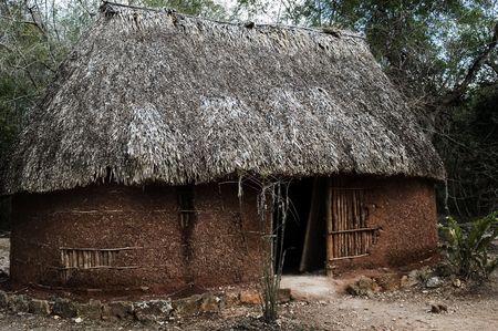 Traditional maya house, Mexico Maya
