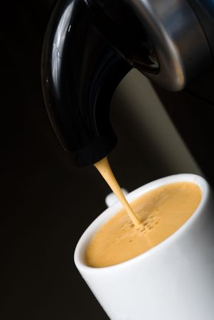 close up of a hot cup of coffee